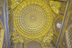 Registan. The interior of the golden mosque