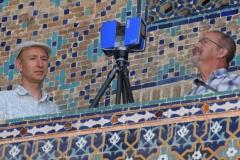 Registan. Scanning the Registan square